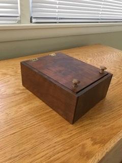 Cherry wood jewelry box -