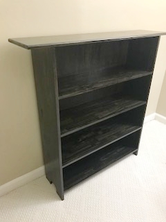 Ebony pine book shelf - This is a pine wood book shelf stained with an ebony finish.