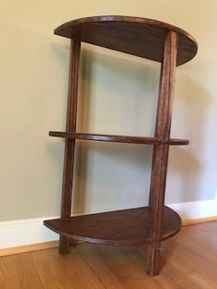 Oak half round stand - This piece is made of red oak with a red oak stain