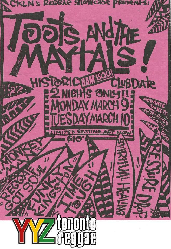Toots and the Maytals at the Bamboo, Toronto!