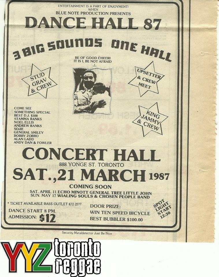 1987 Concert Hall Toronto