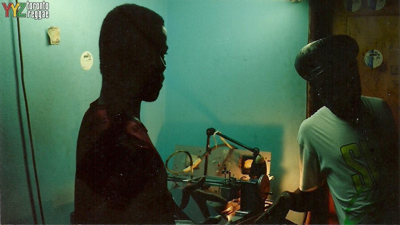 Cutting dubs at King Jammy's Jamaica Waterhouse around 1990  Pic by Toronto Reggae