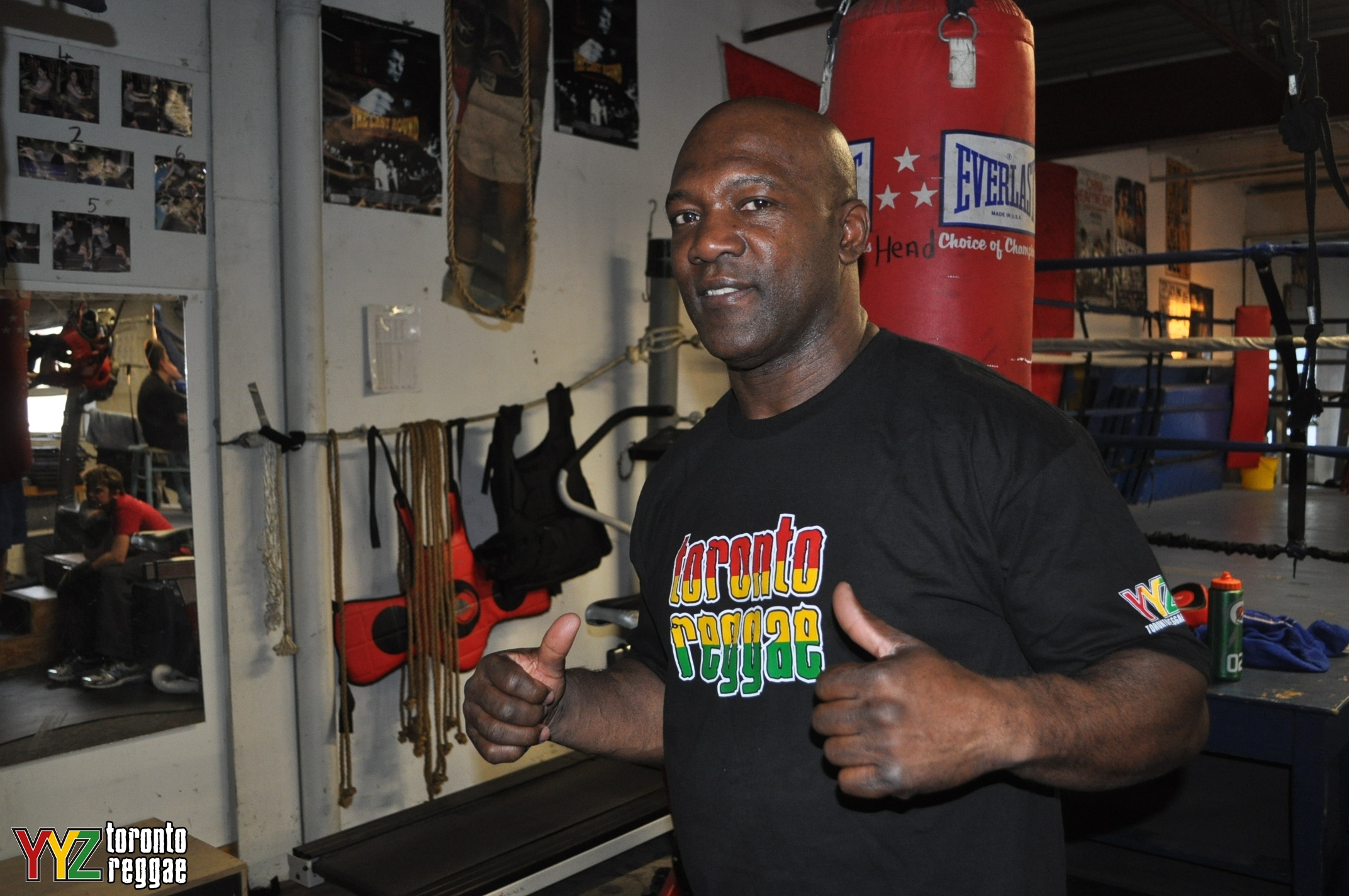 Canadian Boxing Great Tony Morrison wearing his Toronto Reggae T-Shirt! #toronto