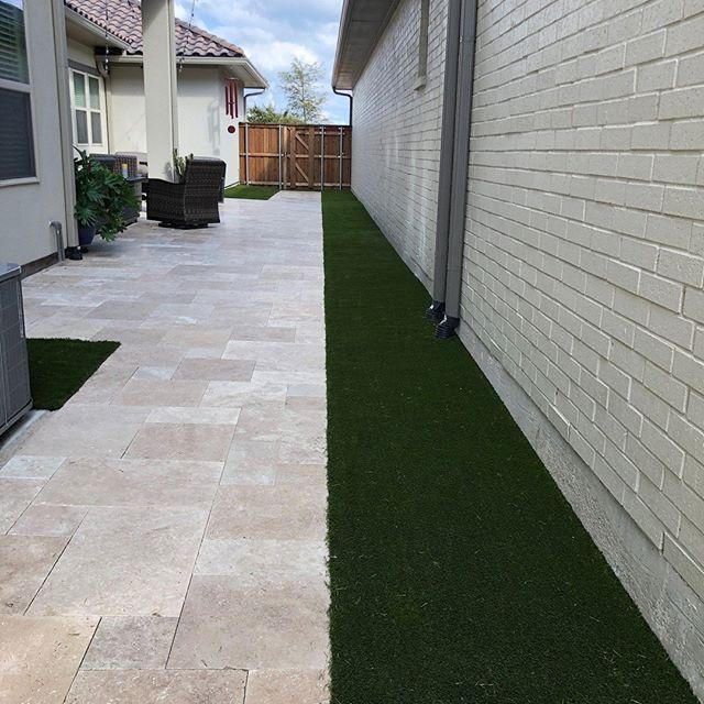 A little green can go a long way. #artificialturf #backyardgrass #foreverlawntexas