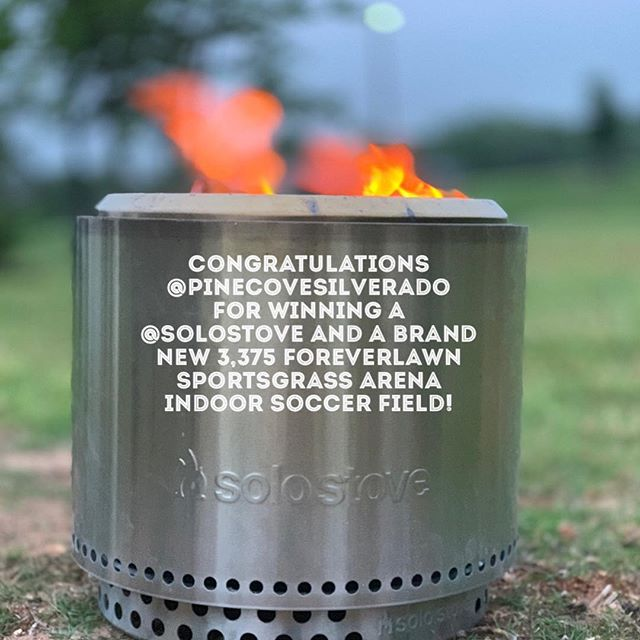 INSTANT GIVE AWAY OPPORTUNITY! Stay tuned to our social media feeds today for your chance to win your own free solo stove. 🌟🌟🌟🔥🔥🔥🔥🔥🔥🌟🌟🌟@foreverlawntexas sent two highly skilled turf professionals to @pinecovesilverado at @pinecovecamps to install 3,375 sq ft of ForeverLawn SportsGrass Arena with a 5mm foam backing to create a safe, clean and FUN indoor soccer arena. Pine Cove is near and dear to our General Manager's heart, who grew up going to the @pinecovewoods when he was 5 years old! Stay Tuned to our post in a few hours for your chance to win A FREE SOLO STOVE just like Pine Cove did!