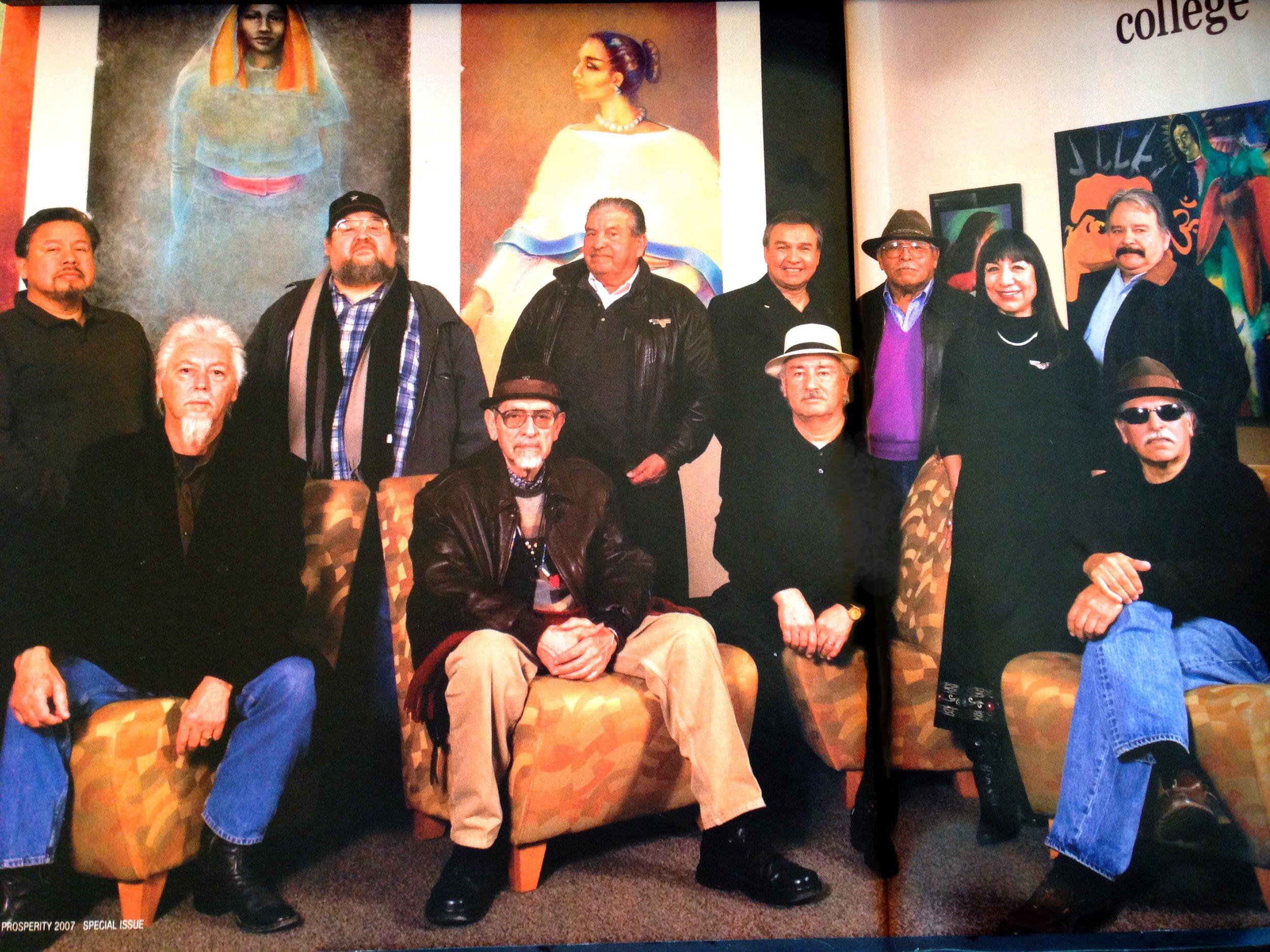 RCAF Artists Left to right: Juan Cervantes, Stan Padilla, Ricardo Fabela, José Montoya, Esteban Villa, Juan Carillo, Rudy Cuellar, Sam Quiñonez, Lorraine García-Nakata, Armando Cid, Juanishi Orosxo, 2007