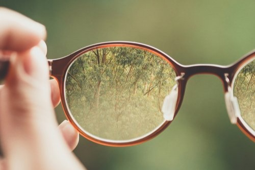 Sharpened image with glasses