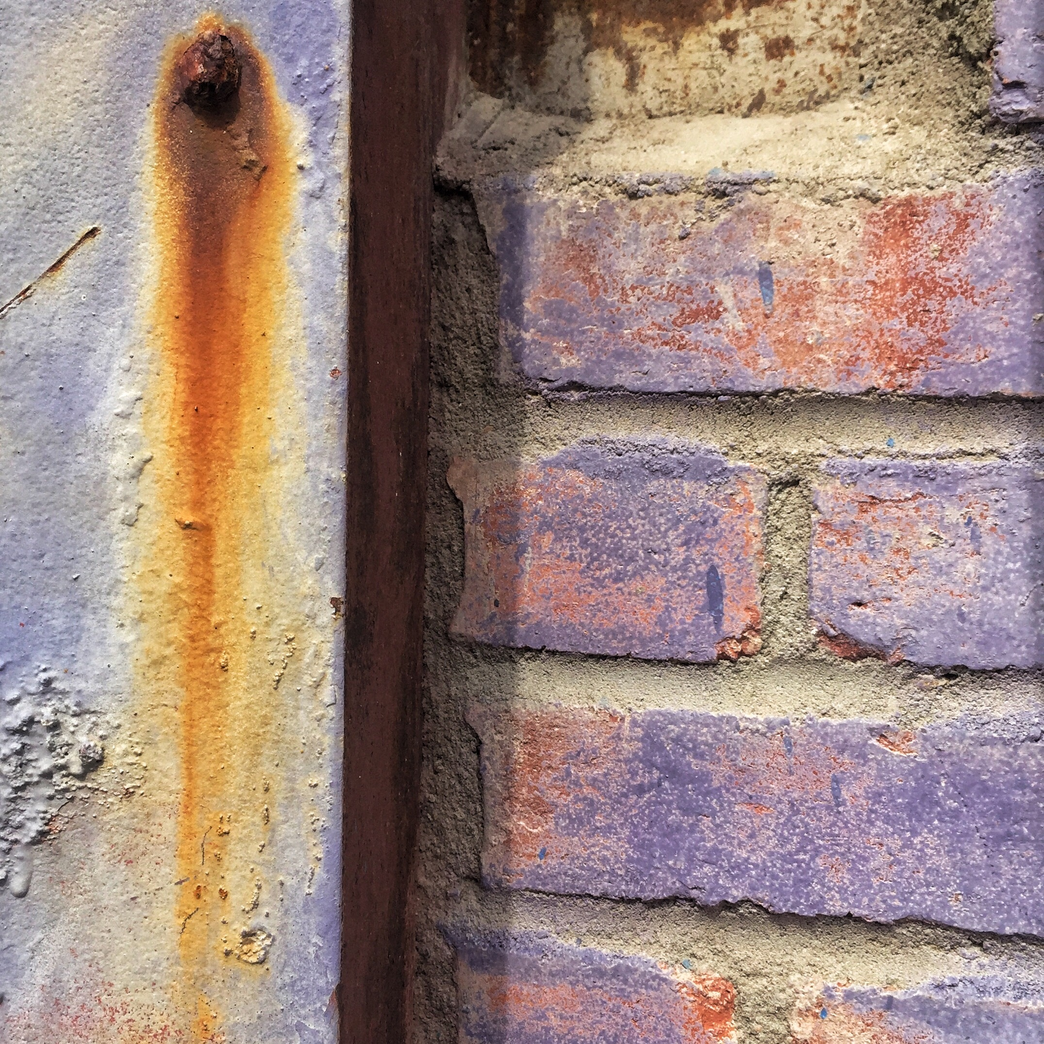Purple and Rust