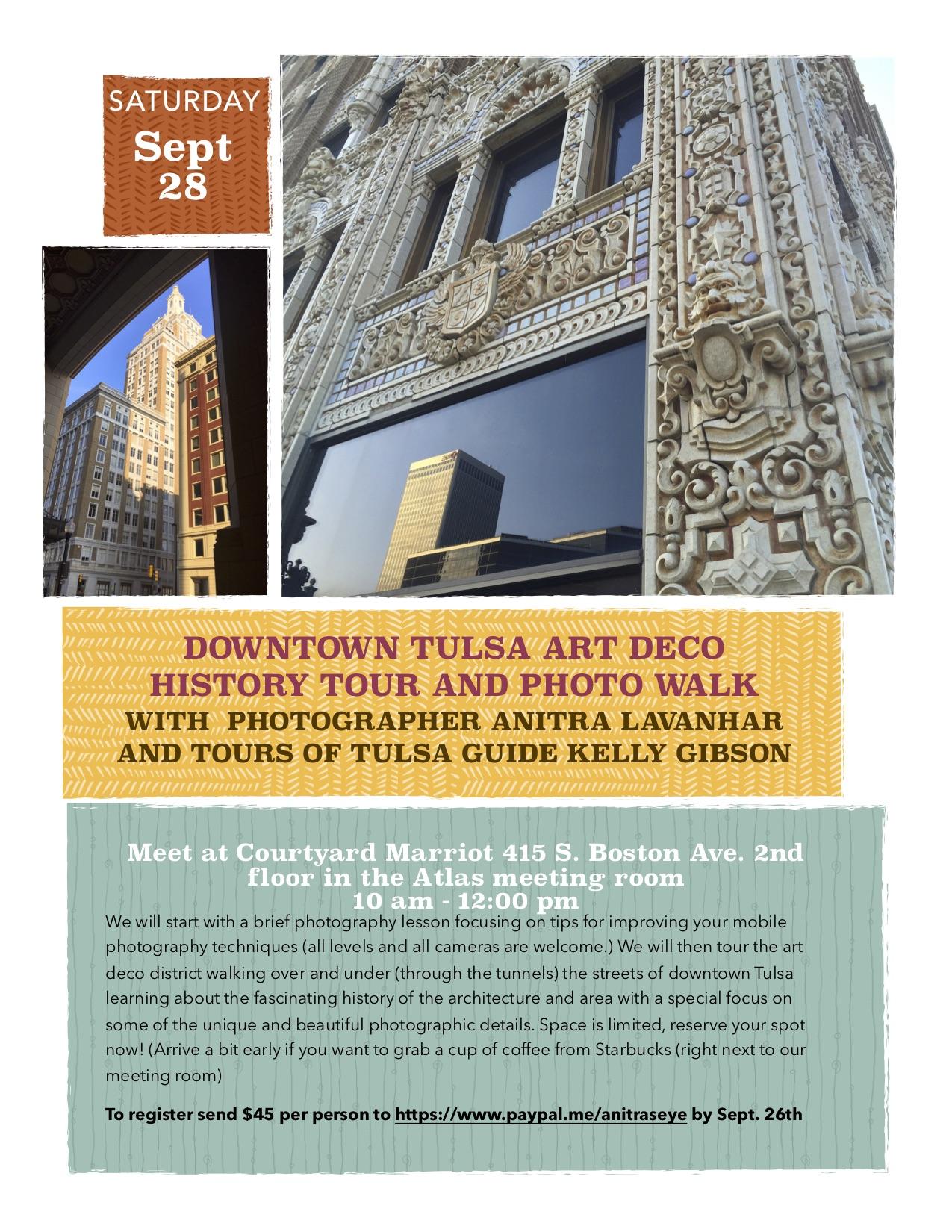 Downtown Tulsa Art Deco History Tour and Photowalk