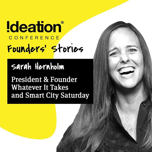 🎤 2019 SPEAKER 🎤⠀ ⠀ Sarah Hernholm is the Founder/President of WIT - Whatever It Takes and Smart City Saturday. Sarah's focus is on creating platforms for teens to use their voice, launch businesses, and create sustainable impact in their communities. WIT is the only college-credit social entrepreneur and leadership course for high school teens in the country, motivating teens to launch enterprises designed to change their communities! Sarah also created Smart City Saturday which hosts teen only hackathons around the country. These hackathons provide teens the opportunity to spend the day tackling their city's greatest challenges and then pitching their proposed solutions to city-officials. Along the way she has delivered three TEDx talks, serves on the board of SCALE, and remains committed getting the teen voice heard and their ideas implemented. @doing_wit⠀ ⠀ ------⠀ ⠀ Come experience life-giving stories, connect and be inspired!⠀ FOUNDER'S STORIES⠀ 🗓Sept 11-13⠀ 📍Liberty Station – San Diego, CA⠀ 🔗Register @ ideationconference.com⠀ ⠀ #IdeationConference2019 #Founders #Conference #TheIdeation #SanDiego #LibertyStation