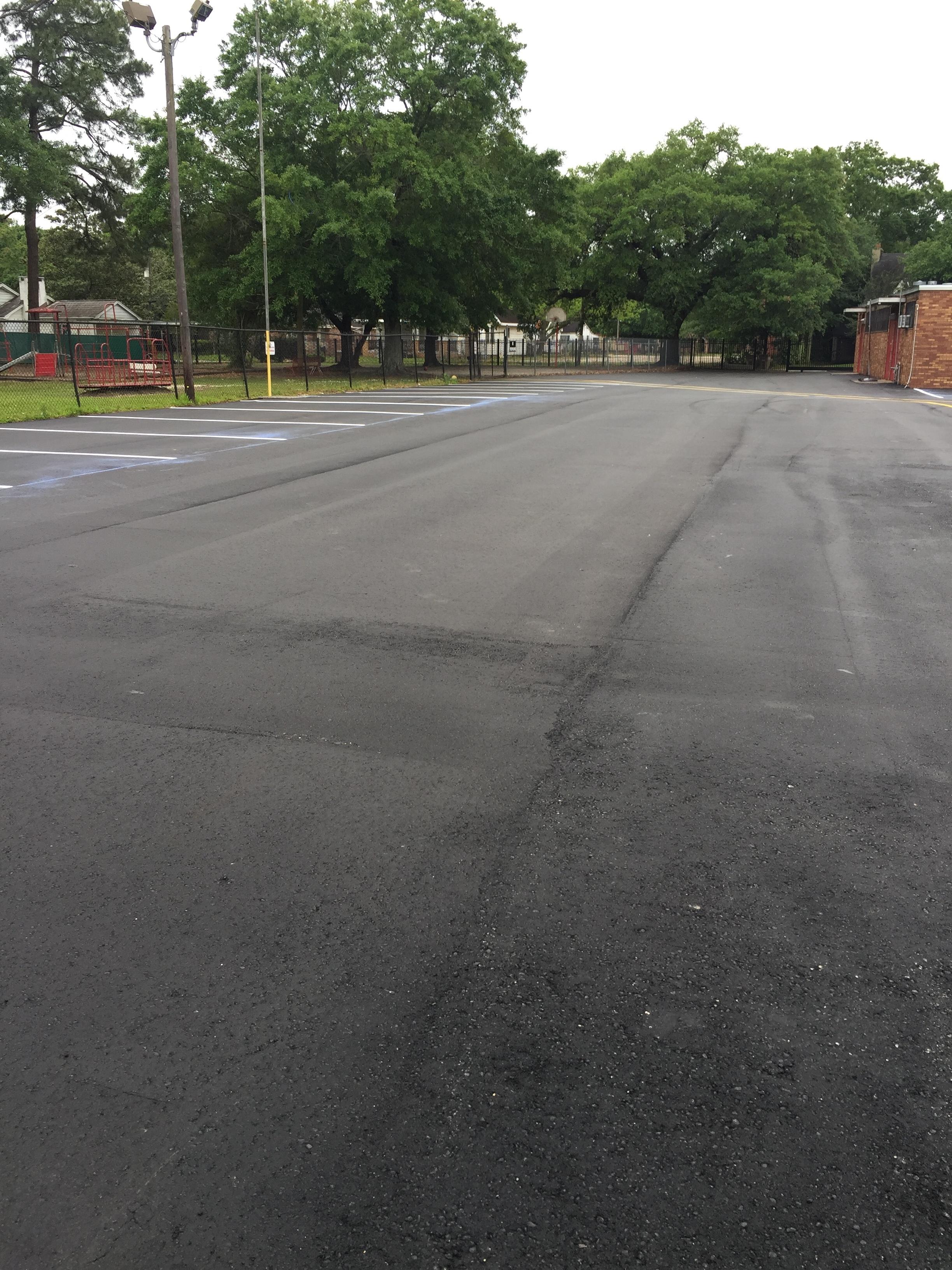 Repaving the School Parking Lot