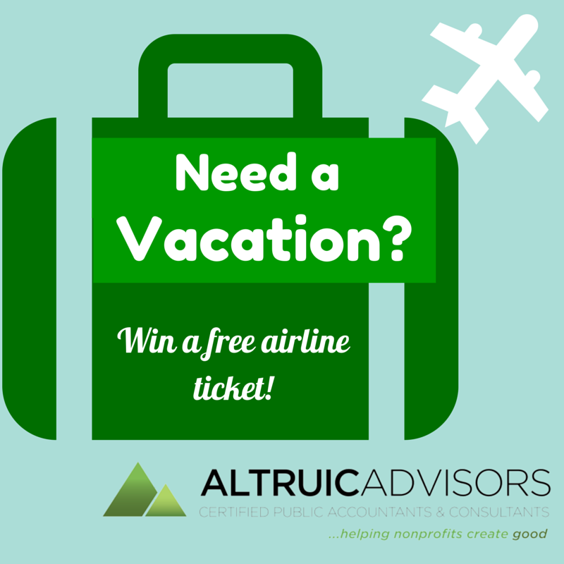 Win a free airline ticket from Altruic Advisors