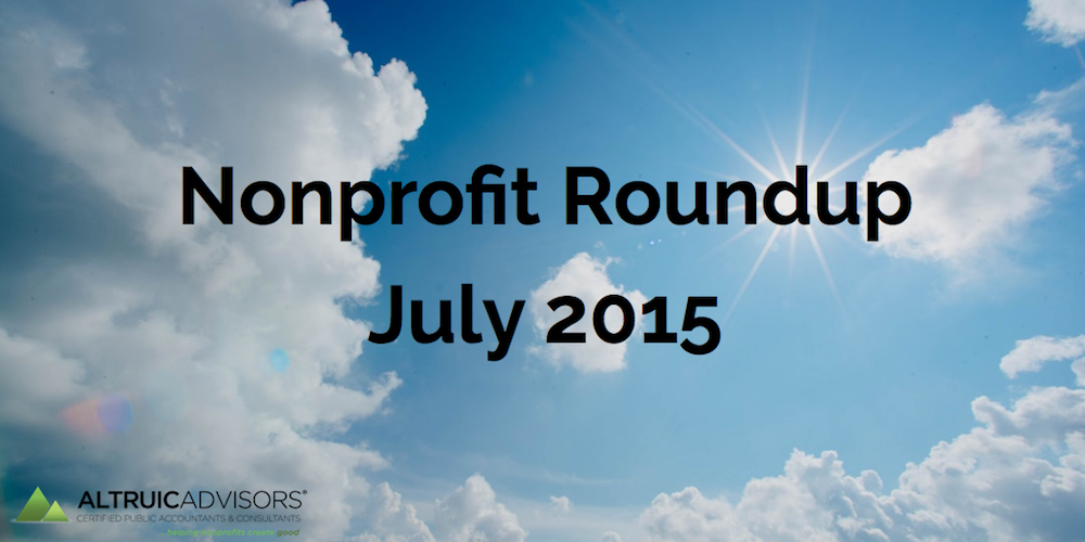 Nonprofit Roundup July 2015