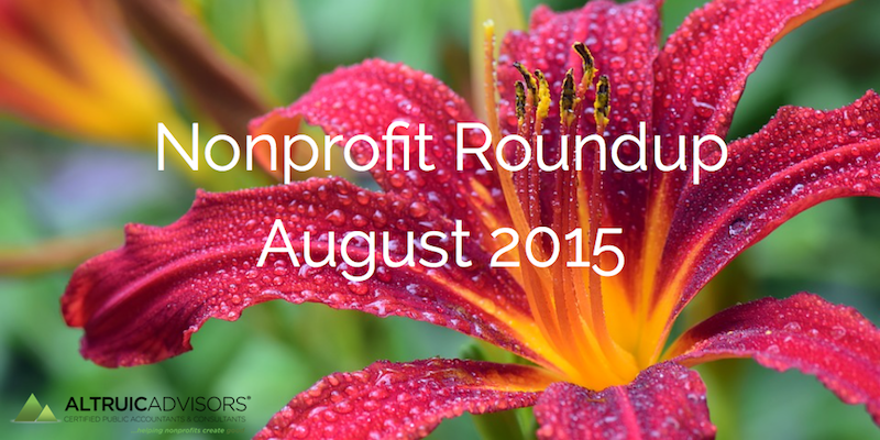 Nonprofit Roundup August 2015