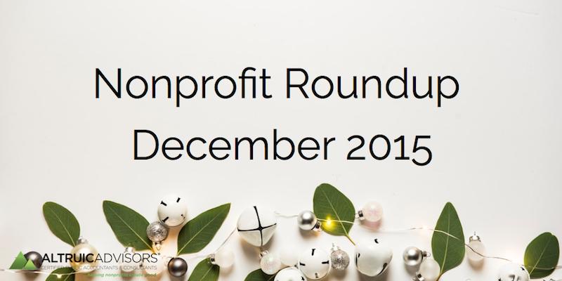 Nonprofit Roundup December 2015