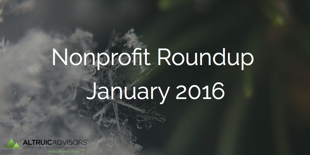Nonprofit Roundup January 2016