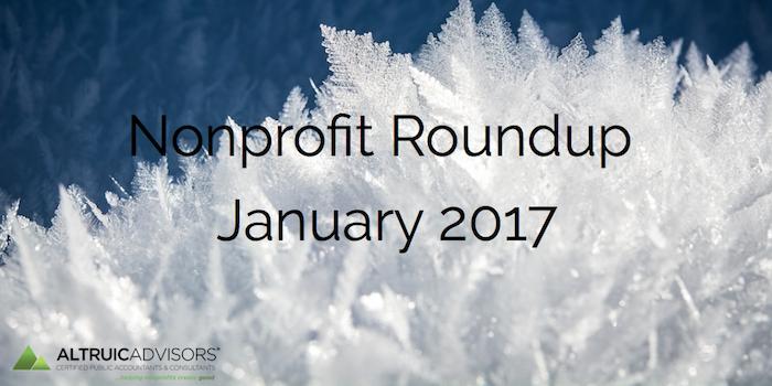 Nonprofit Roundup January 2017