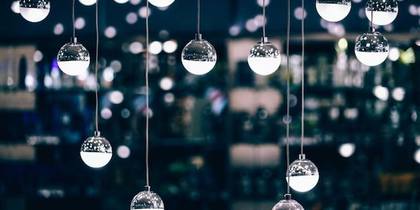 Strings of festive lights.