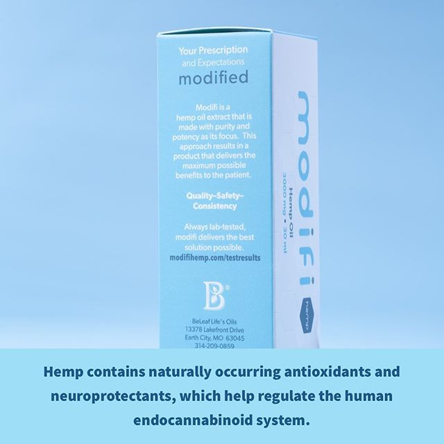 modifi is a pure CBD hemp oil extract. Formulated exclusively for medical professionals, it is made with purity and potency in mind.  Hemp has been used for a variety of wellness needs for thousands of years.  It contains naturally occurring antioxidants and neuroprotectants, which help regulate the human endocannabinoid system. #cbd #hemp #cbdoil #hempoil #cbdcommunity #wellness #selfcare #cbdhealth