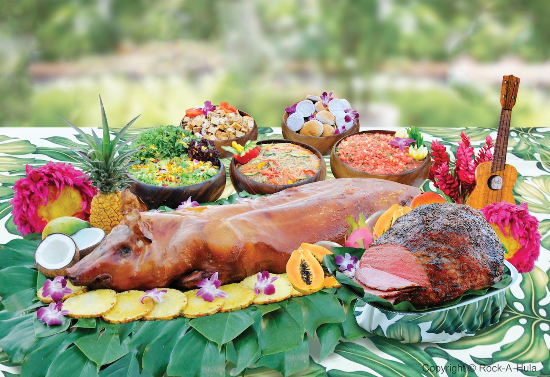 丸ごと豚のローストなどハワイ料理が味わえるルアウビュッフェディナー