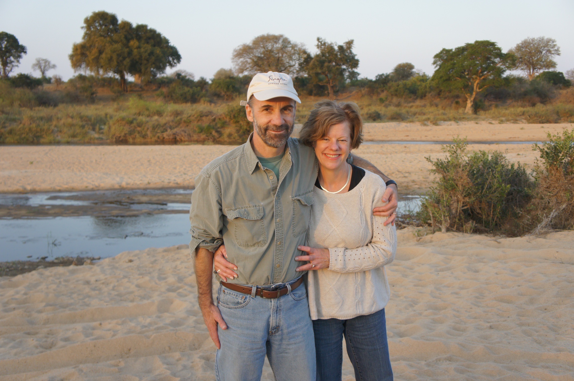 Kathy and Tom in Botswana