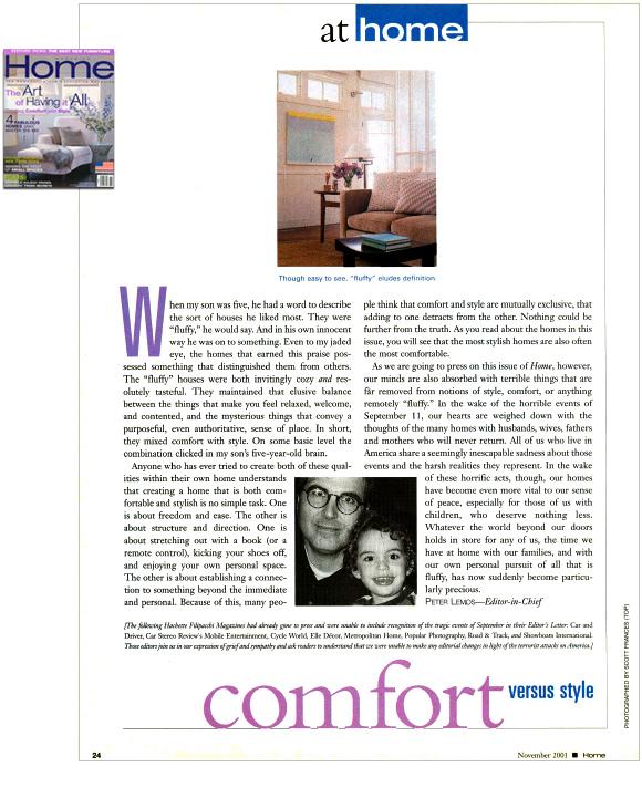 Home, November 2001