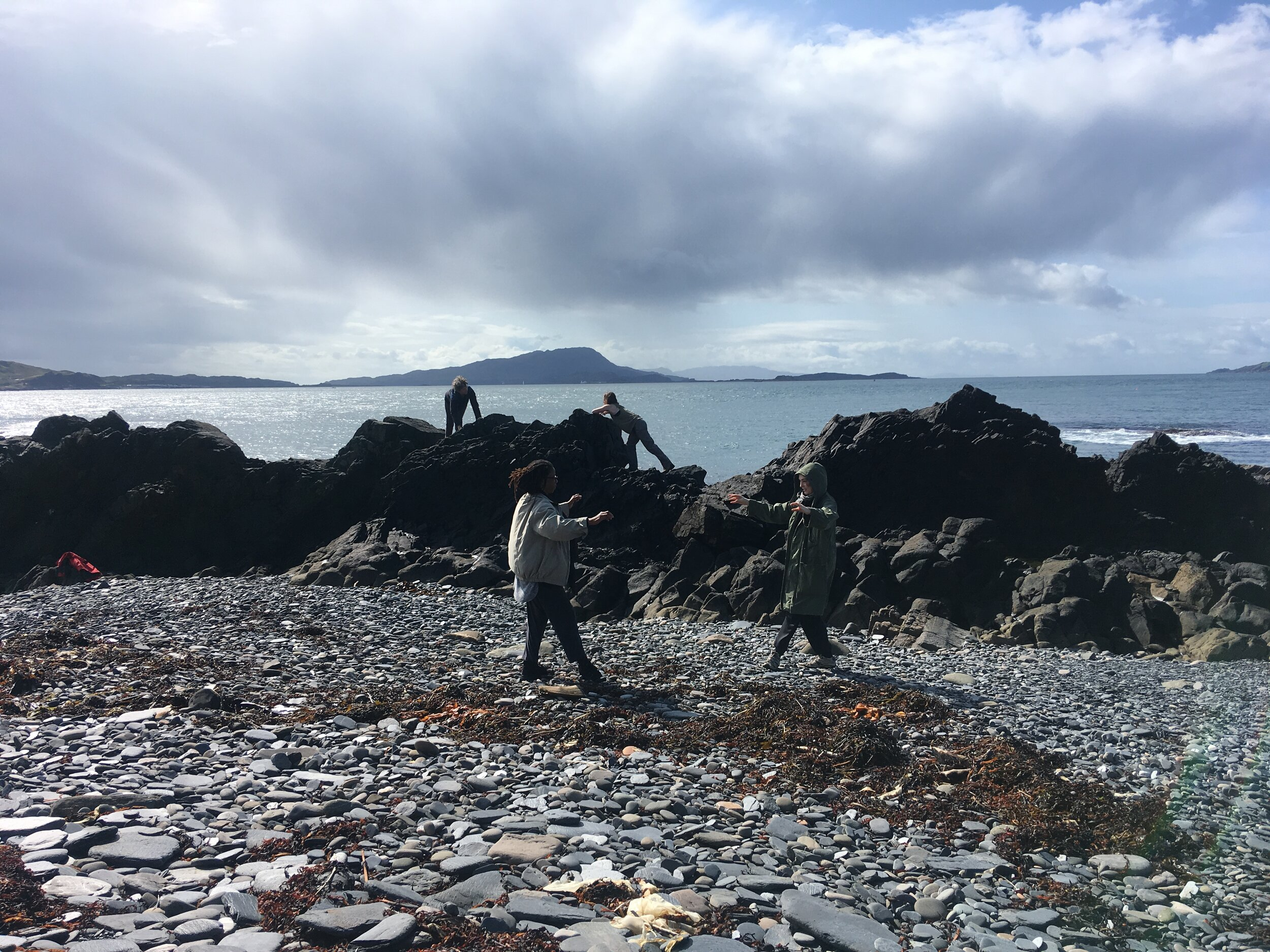 Screendance in the Landscape Workshop on Easdale Island, 2019