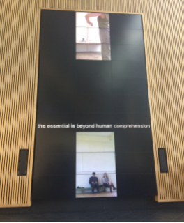 we record ourselves on the 10-meter high MediaWall at Bath Spa University as part of the Journal of Media Practice and MeCCSA Practice Network Annual Symposium and it was presented there in June 2017 and July 2018.
