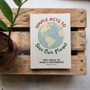 SIMPLE ACTS TO SAVE OUR PLANET £10 - This book was featured on my insta before, and for good reason. You often find as an 'eco warrior' that you hear the same things, A LOT. This book is jam packed with good ideas, from roof top gardens to bike share programs and everything in between.