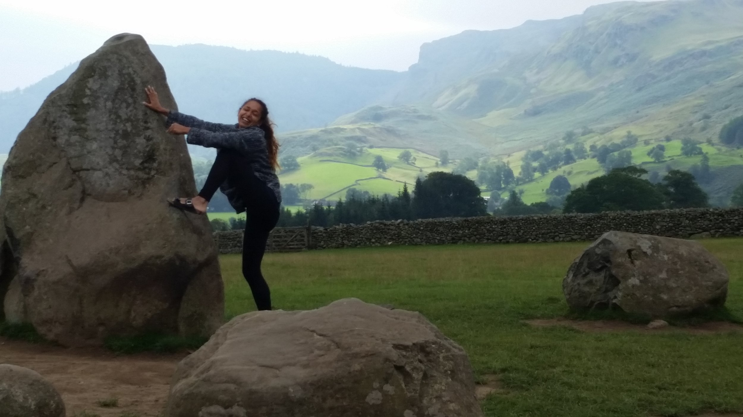 me looking like a bellend trying to climb a rock in a bronze age stone circle, but metaphorically, me climbing into my mid twenties.