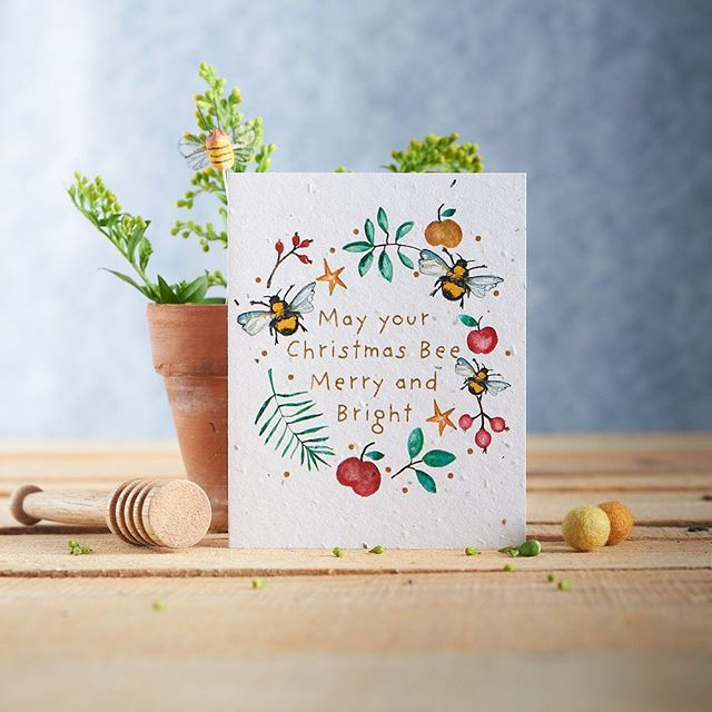 Any eco warrior will appreciate this cute card made from seed paper.