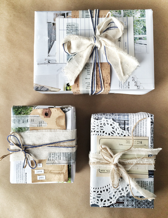 As this blogger suggests, try working with what you've got. Old newpapers, magazines, tree clippings, tissue paper, Christmas cards and ribbon are just some of the things you could repurpose! So, go get creative.