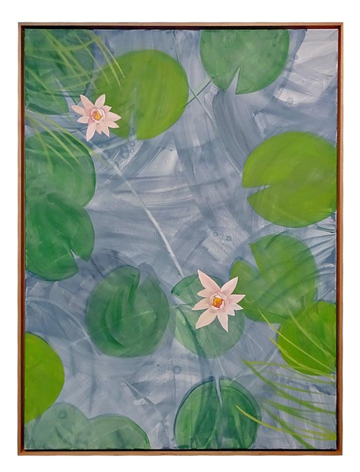 """""""Zen Garden with Pink Lilies"""""""