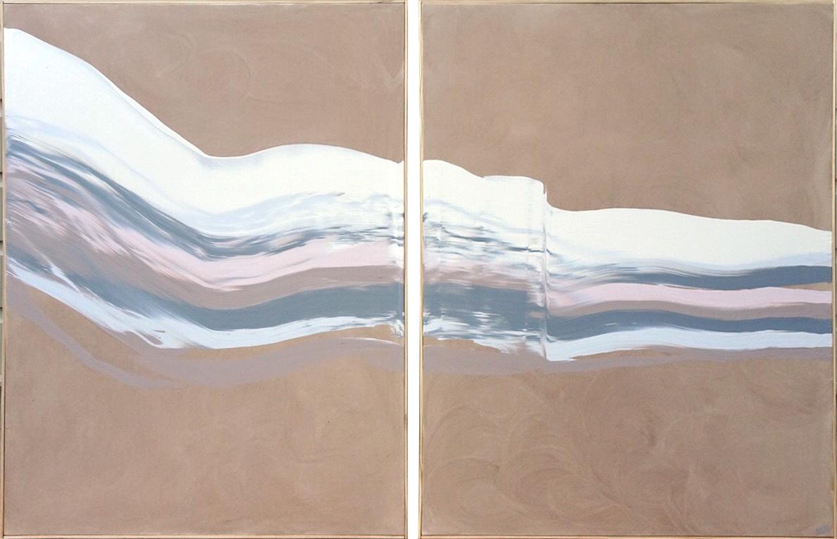 """""""Beneath the Surface"""" (2) 36'' w x 48'' h Acrylic on Canvas, 2019"""