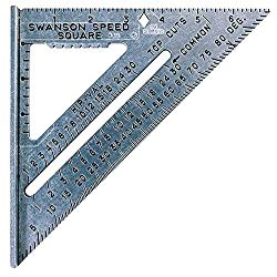 A speed square is a perfect guide for square cuts and squaring up joints