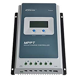 40 AMP, Charge controllers are the brains of your solar system. Go with MPPT controllers not PWM