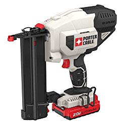 This is the brad nailer I use. Its more expensive but I need the portability as I don't have space for an air compressor in the van. I also use it for all finish work.