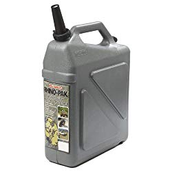 I prefer portable jugs instead of a big holdong tank because it gives me significantly more filling options on the road.