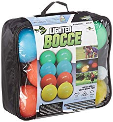 Glow in the dark LED bocci, perfect for river trips and life in general.
