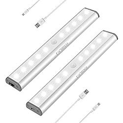 Stick on LED light with rechargeable battery.