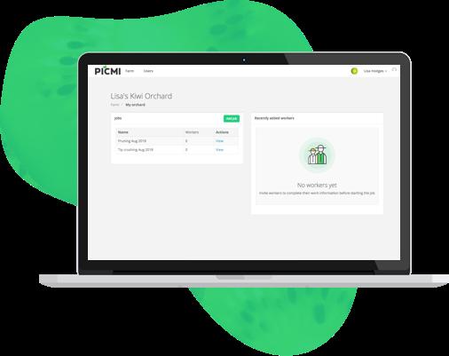 PICMI Grower admin dashboard