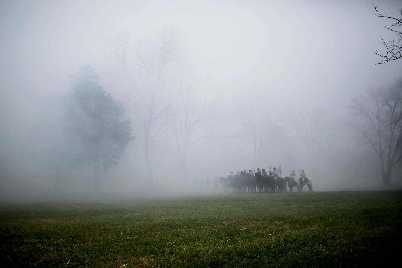 """To enforce it's might over a largely rural population, the Army marched across the South after Appomattox, occupying more than 750 towns and proclaiming emancipation by military order. This little-known occupation by tens of thousands of federal troops remade the South in ways that Washington proclamations alone could not ... Meanwhile, Southern soldiers continued to fight as insurgents, terrorizing blacks across the region. One congressman estimated that 50,000 African-Americans were murdered by white Southerners in the first quarter-century after emancipation."" — The Dangerous Myth of Appomattox: The New York Times"