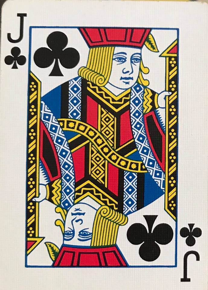 A Jack; The lowest of the face cards, but when in the right hands can be very advantageous.