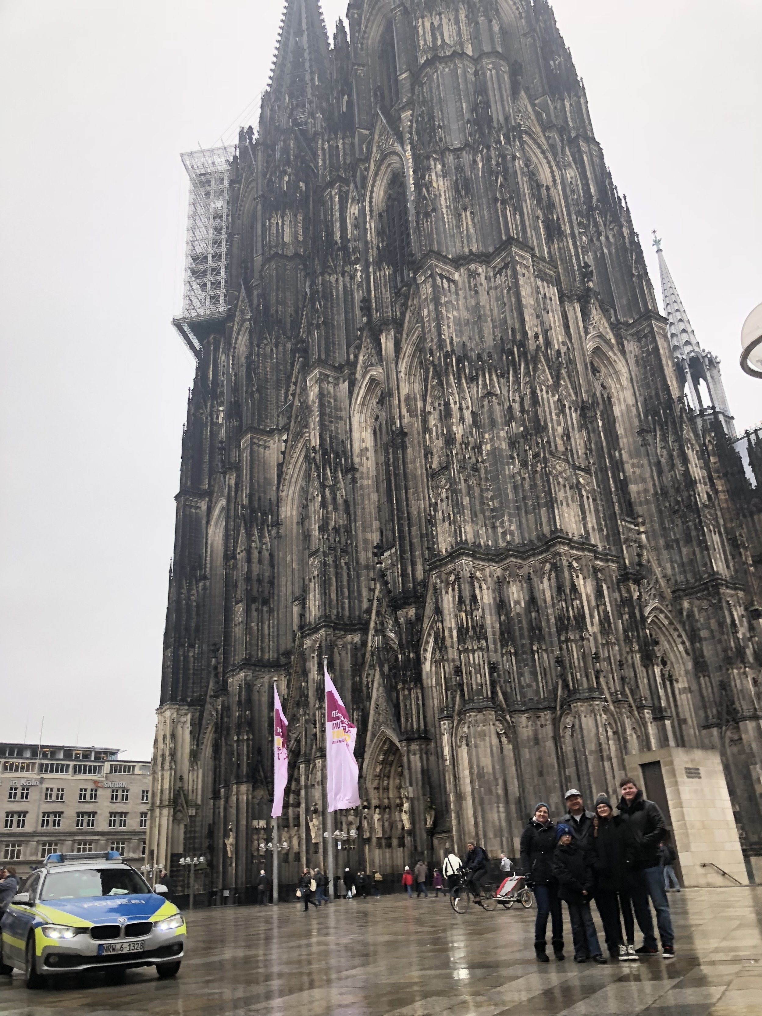 It's hard to capture the size of such a magnificent building. But we tried. We couldn't even get the top of the Cathedral into the frame.