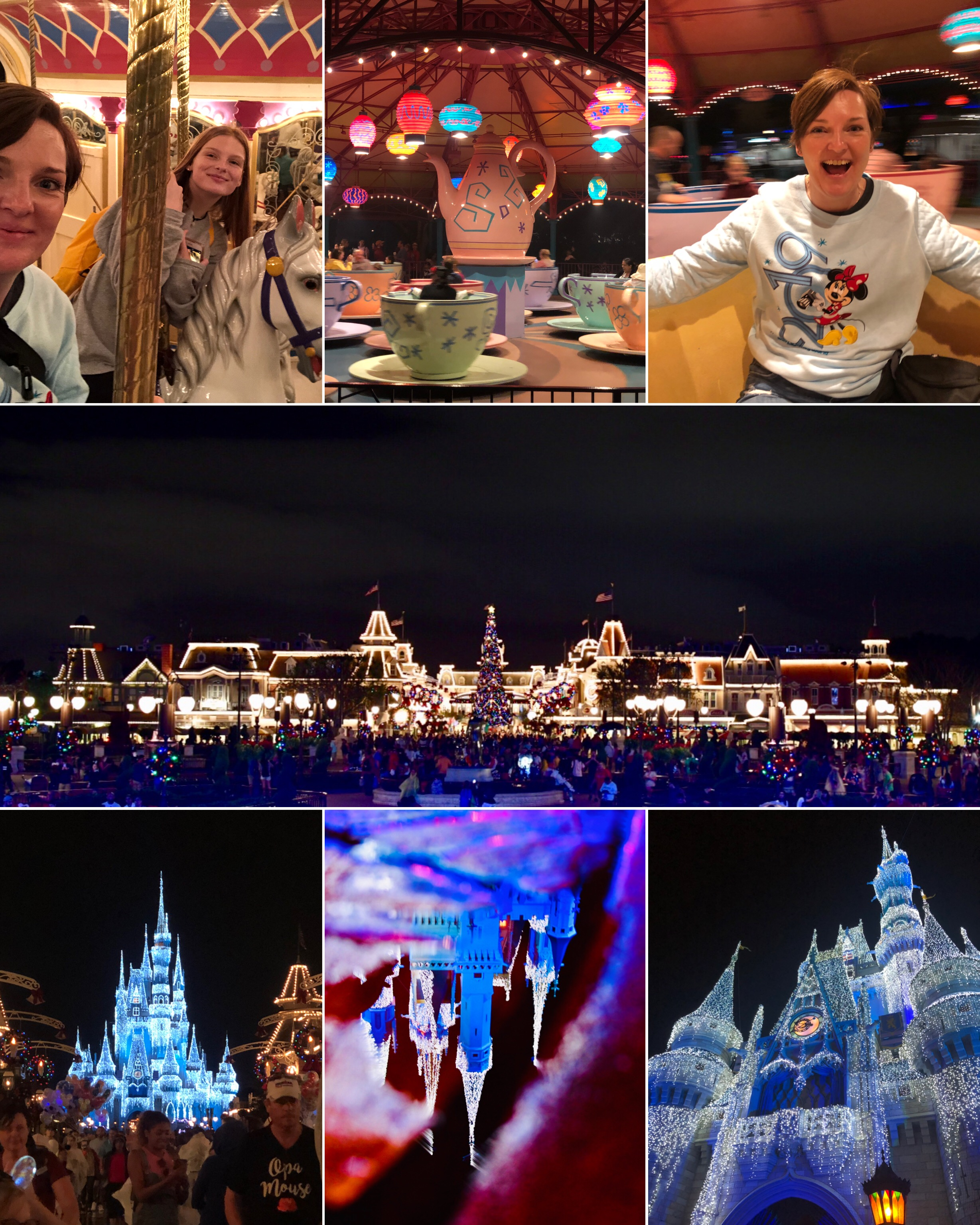 Magic Kingdom snapshots from our visit in January 2019. First time ever on the carousel and the teacup ride.