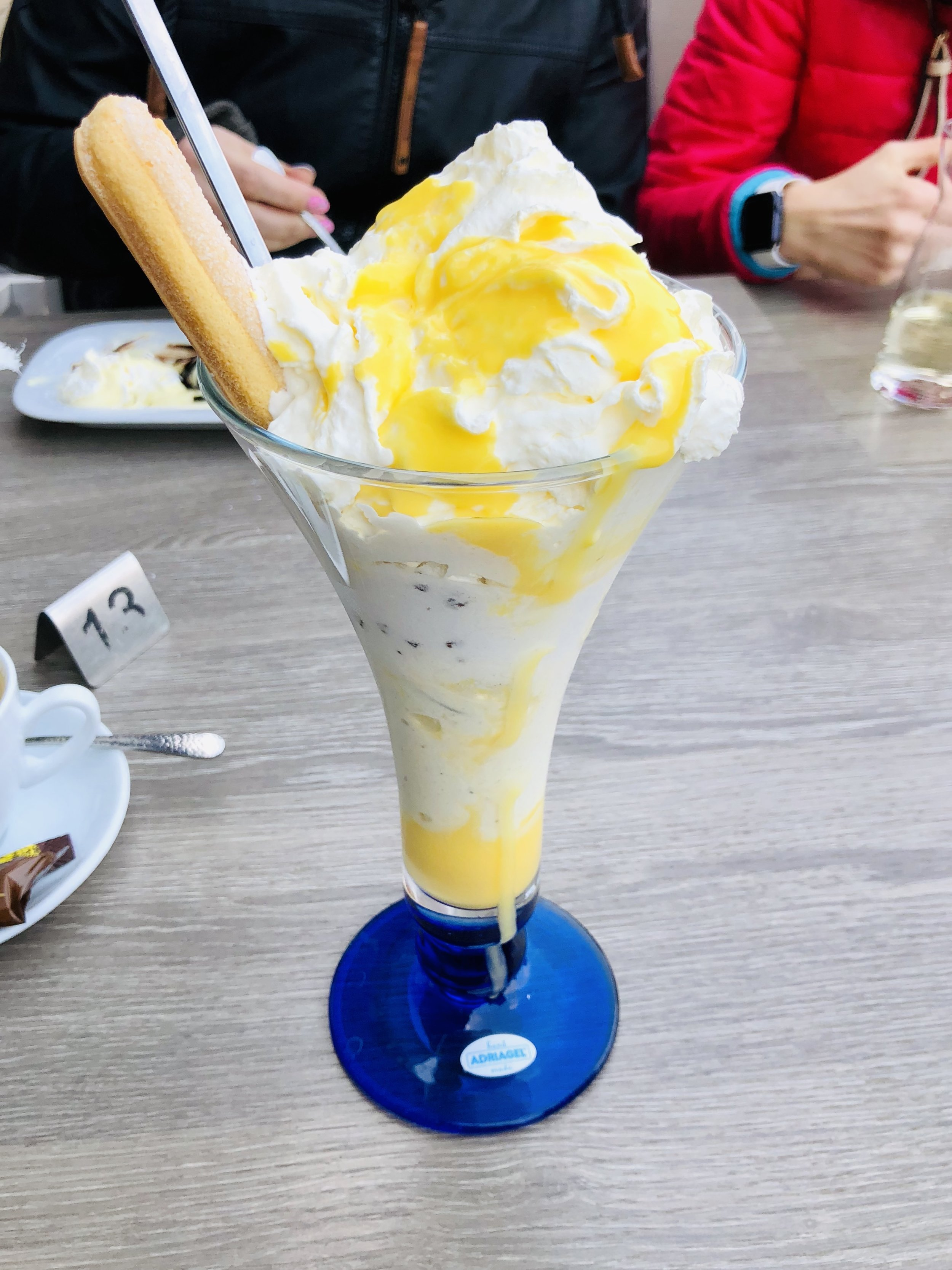 In Germany they have ice cream cafés. They usually open the beginning of May and all they serve are ice cream concoctions. I cannot wait to have an amazing Eisbecher when we are there in June.