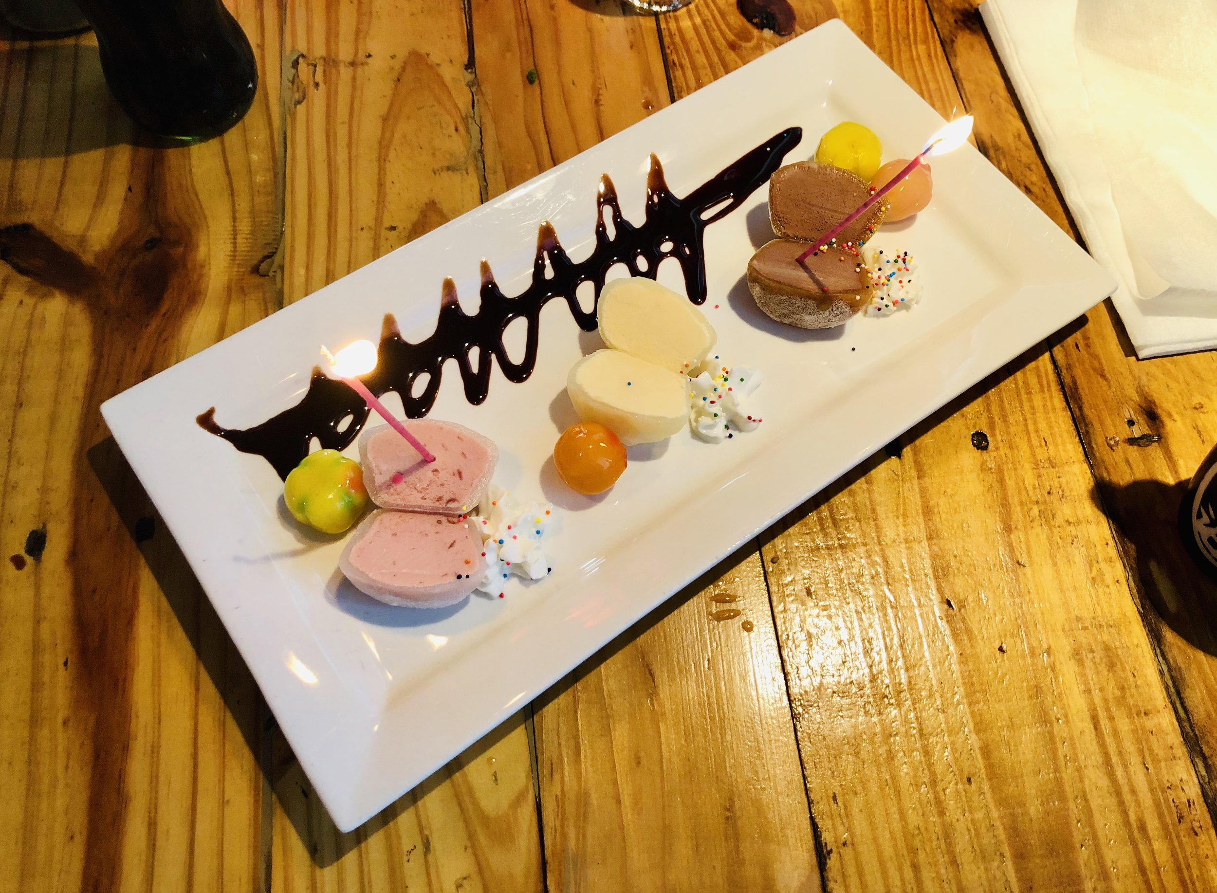 Mochi ice cream is pretty amazing and a must have when we have Japanese food.