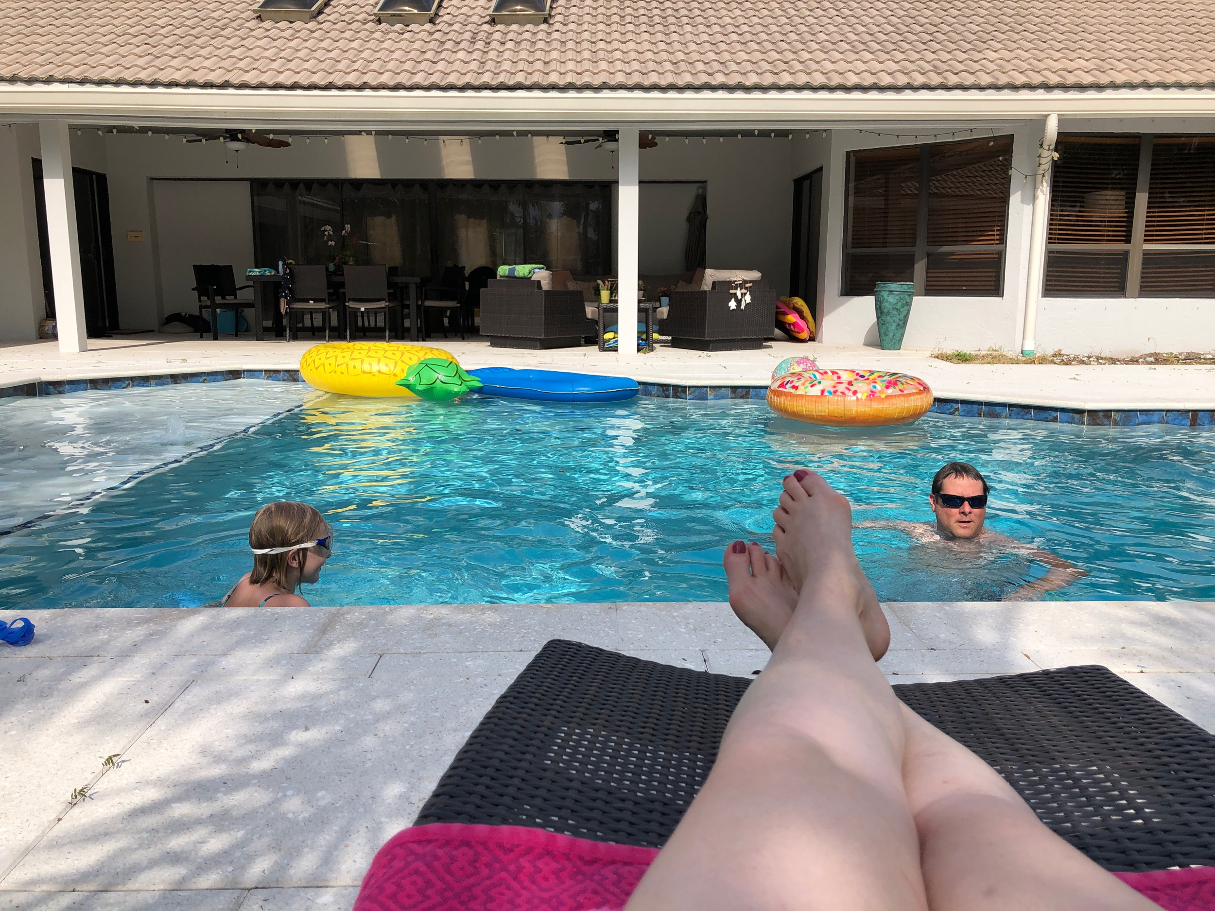 Ok, so I'm actually not IN the pool in this shot but you get the idea. :)