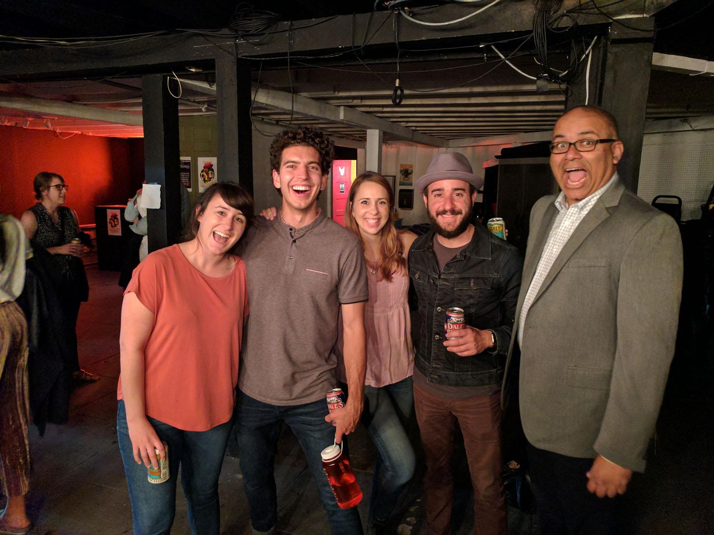 Alisha Ketry, Andrew Heder, Alonya Eisenberg, Greg Santos and Atul Singh at Nerdmelt