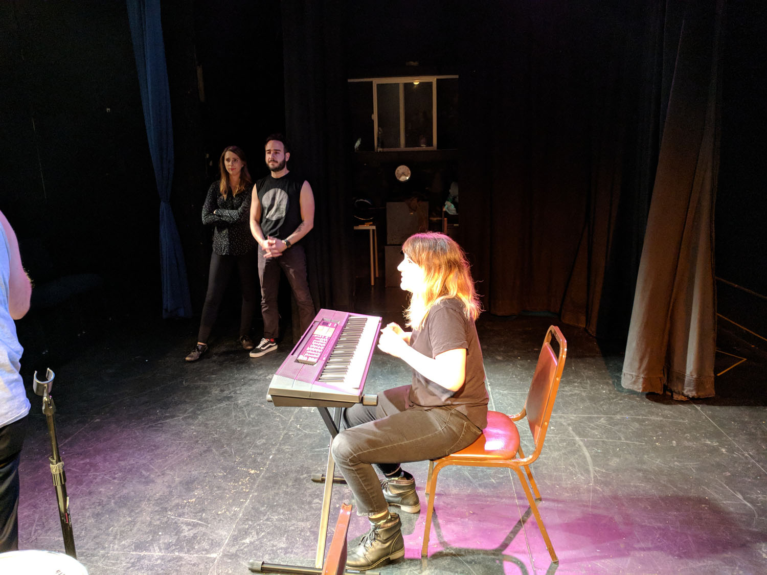 Alonya Eisenberg, Greg Santos and Alisha Ketry at PianoFight for SF Sketchfest